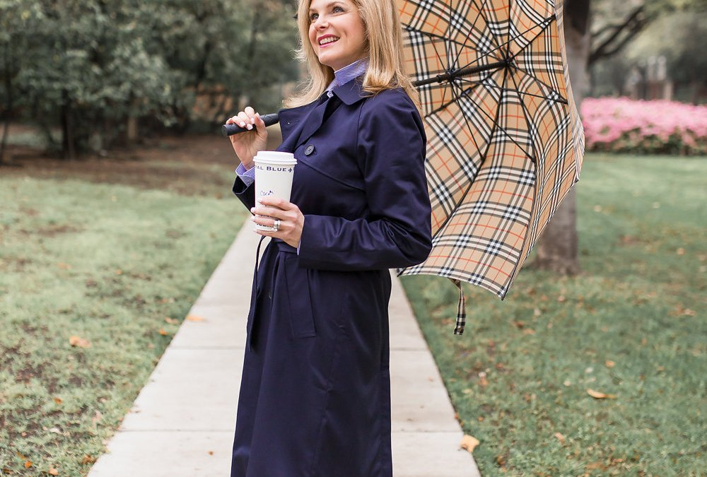 April showers bring… a chic trench coat look