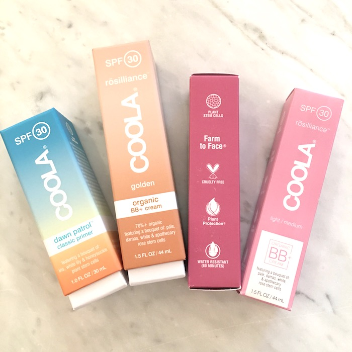 Trying out the Coola products