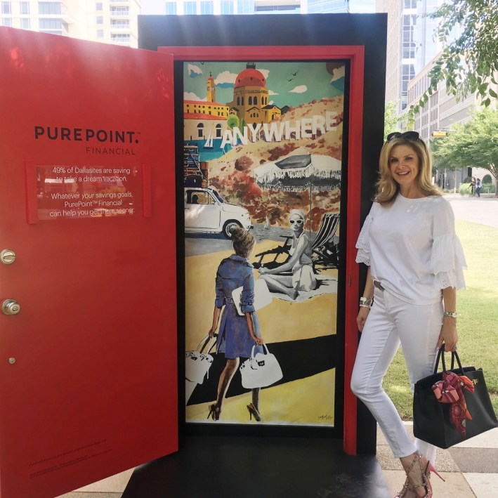 Tanya Foster discovers the PurePoint Financial doors in Dallas to unlock your future with artist Haylee Ryan