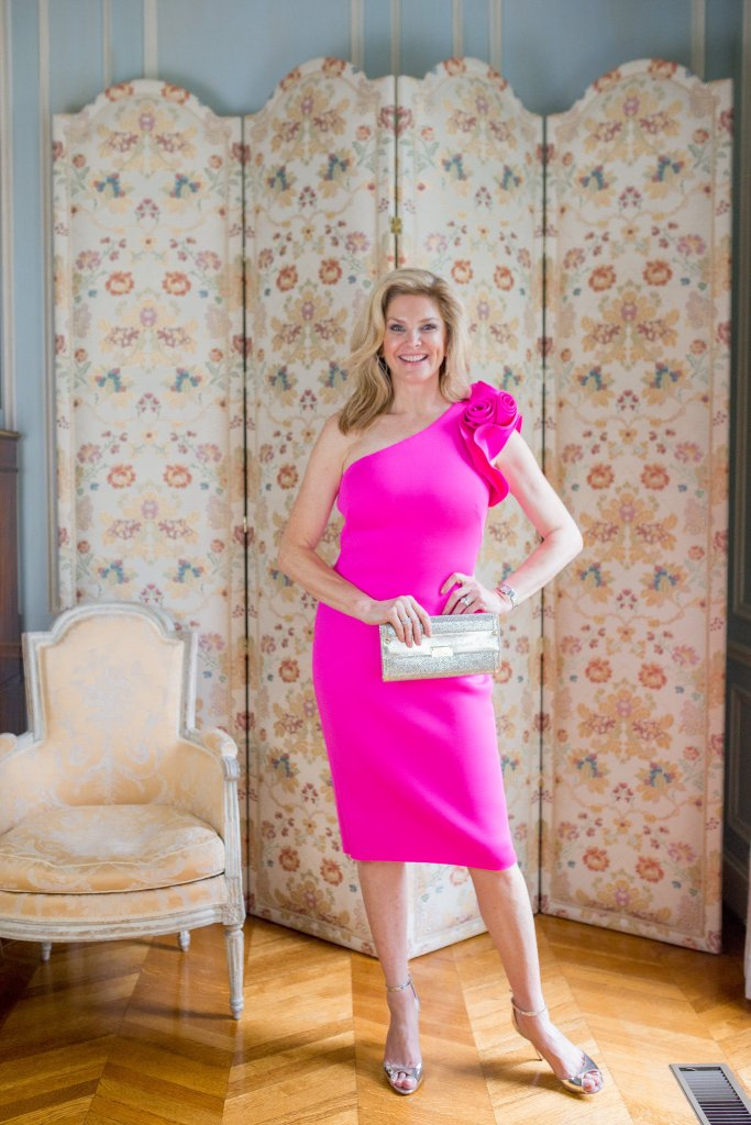 What to wear to a summer soiree. Consider this beautiful pink Eliza J cocktail dress.