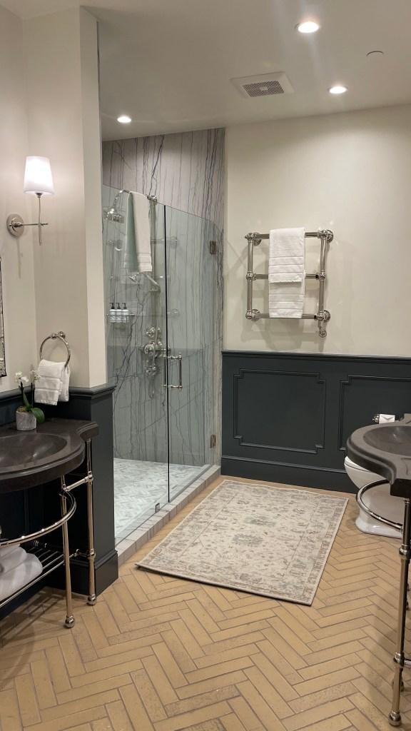 Bathroom in Jordan Winery chateau suite