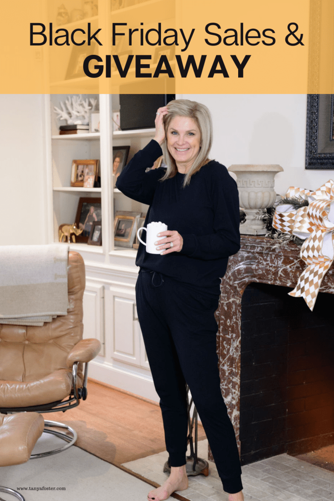 Tanya Foster in Cozy Earth black friday sales and giveaway