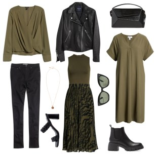 Black & Olive Green for Fall