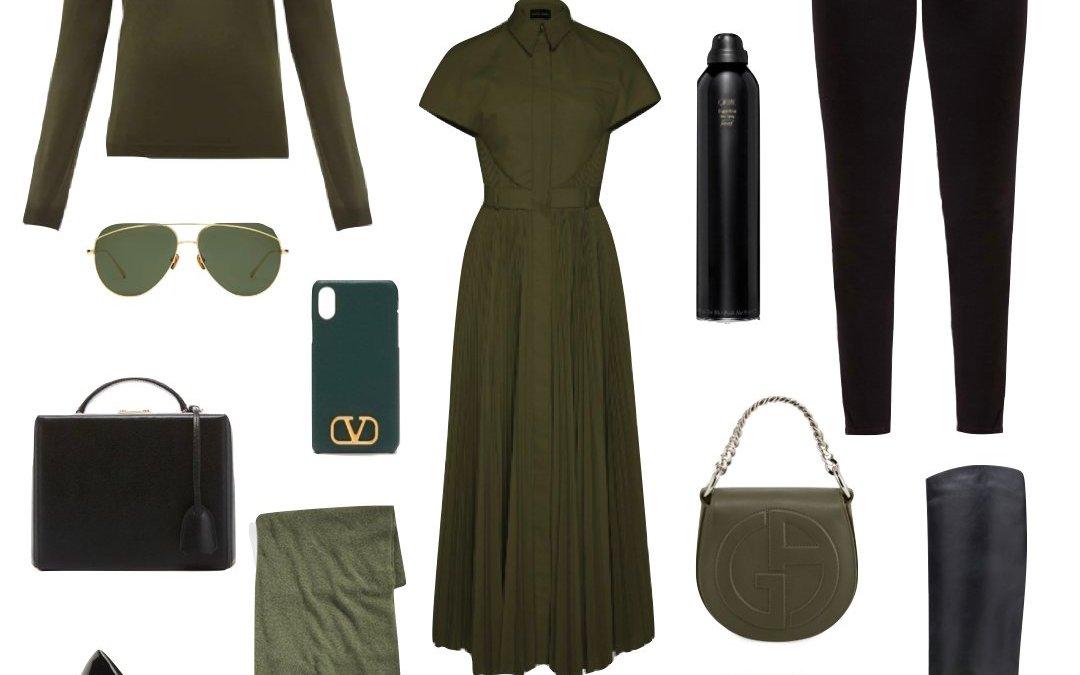 Black & Olive Green