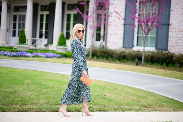 tanya foster wearing chico's wrap dress