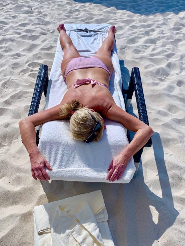 Tanya Foster on the beach in Aruba