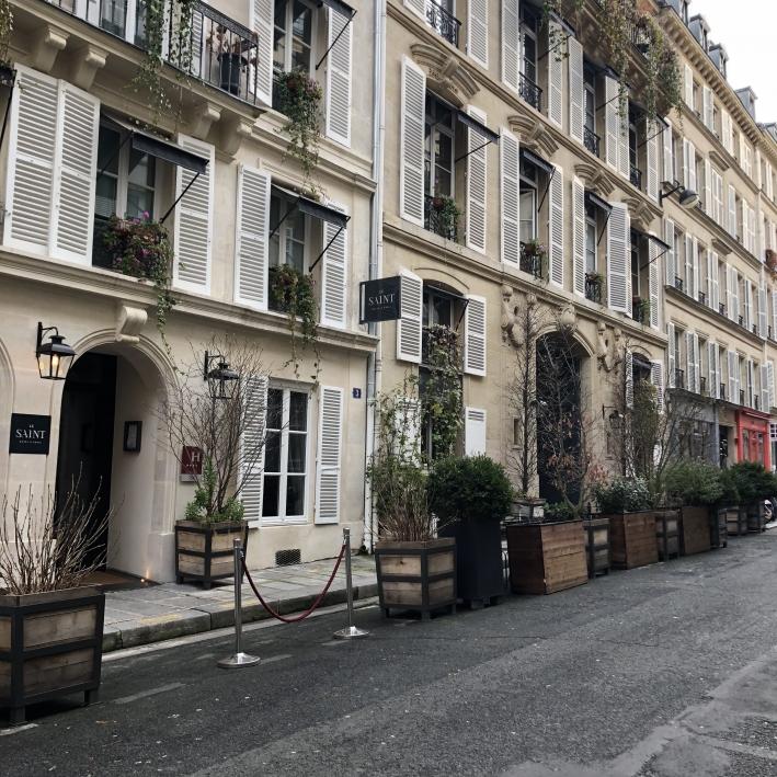 Streets of St. Germain in Paris, France