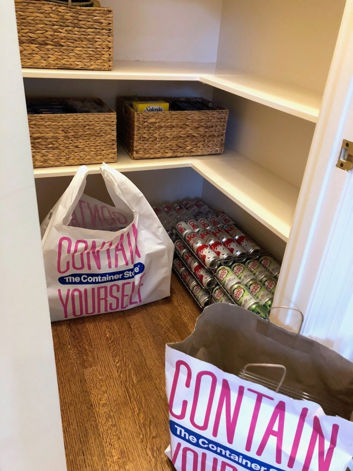 The Container Store baskets and storage bins