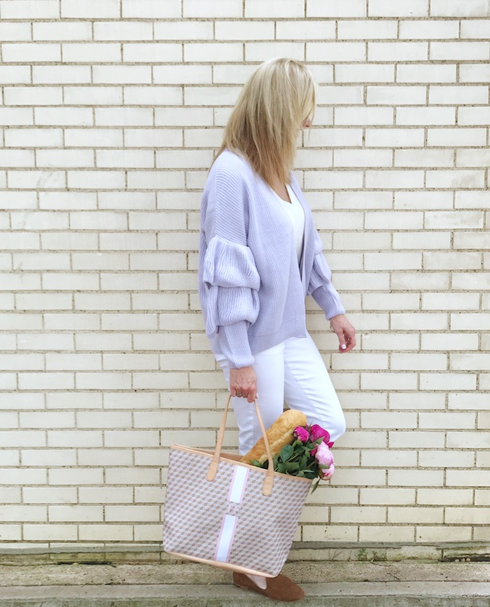 The Savannah Tote from Barrington Gifts in a neutral color with monogram.