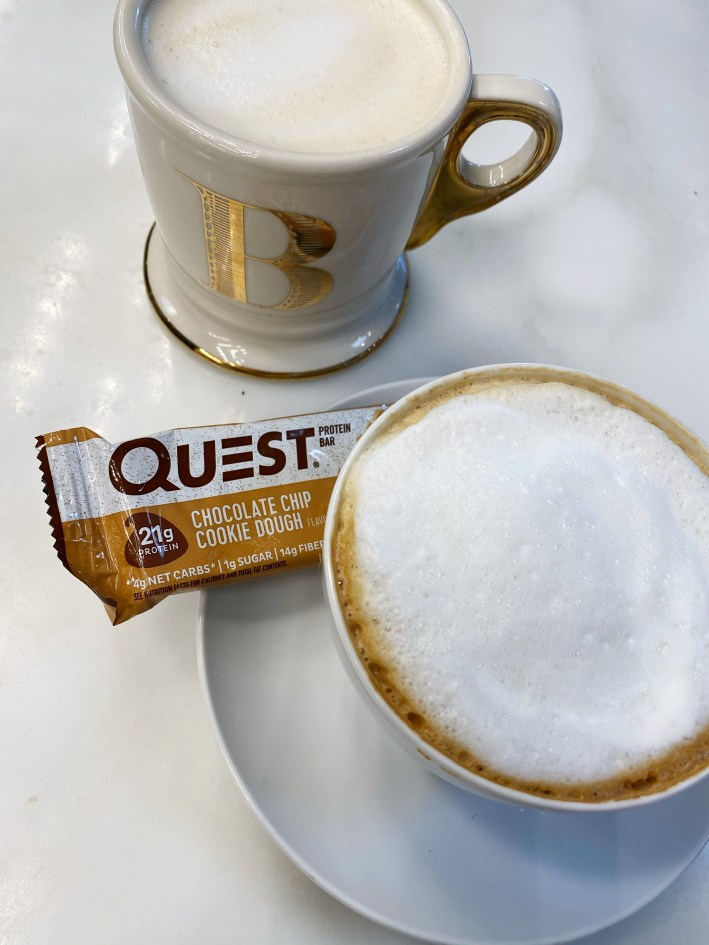 Coffee and a Quest bar