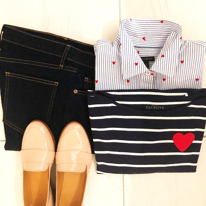 TAlbots shirt and sweater with Sezane shoes