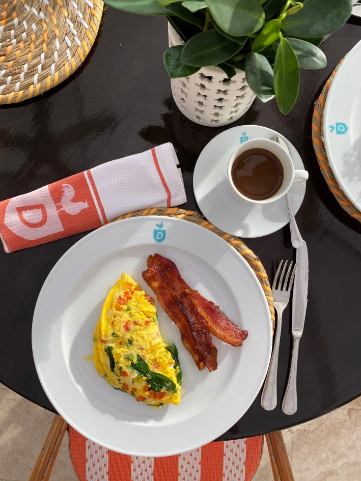 Breakfast at The Dunmore Resort and Harbour Island, Bahamas