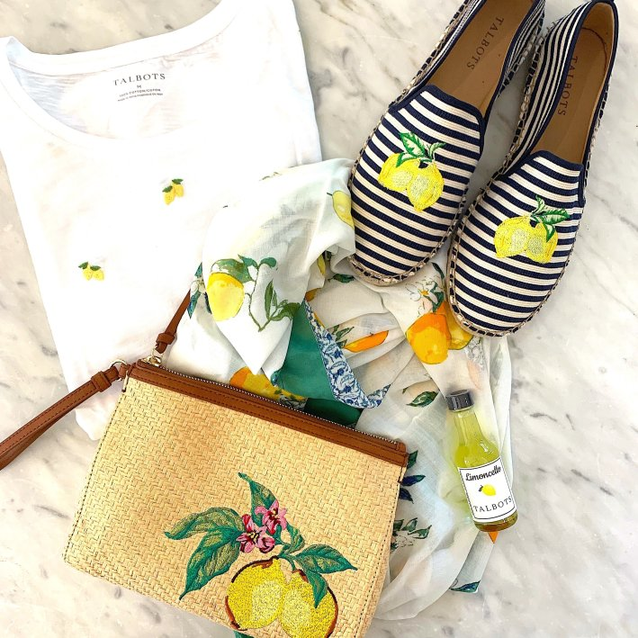 Talbots lemon print spring fashion
