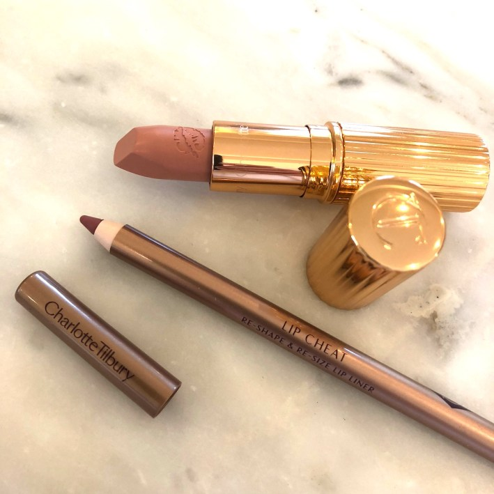 The perfect nude lip with Charlotte Tilbury products