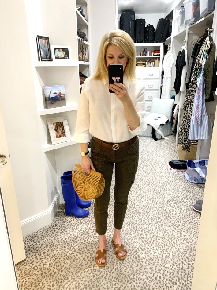 Summer Staples - olive pants