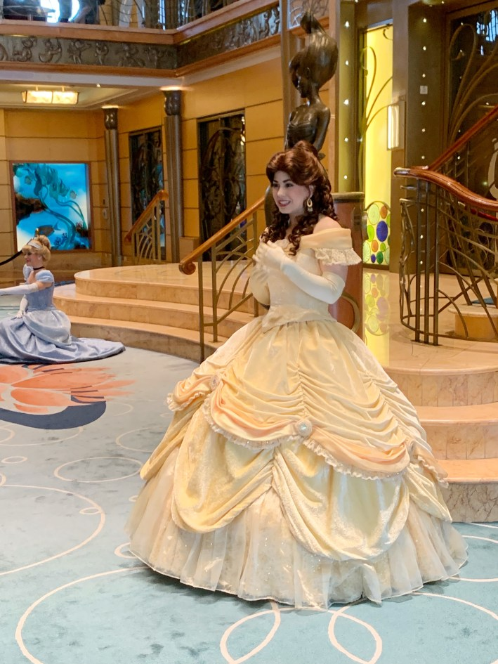 Top 10 Reasons to Book a Disney Cruise to Alaska featured by top US travel blogger, Tanya Foster: image of Princess Belle on the Disney Wonder