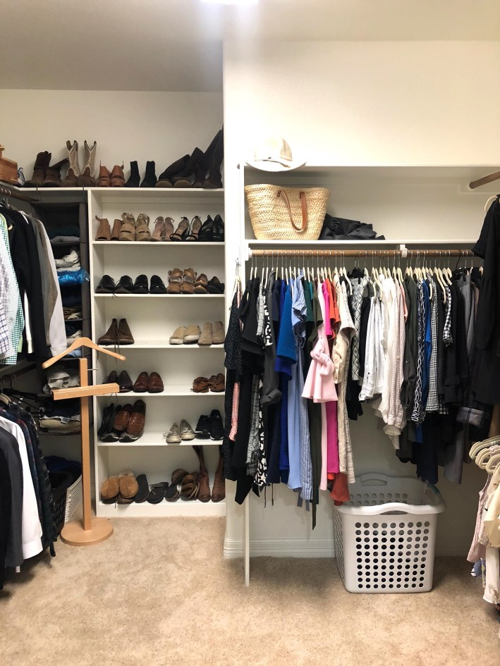 Master closet remodel using Elfa and The Container Store