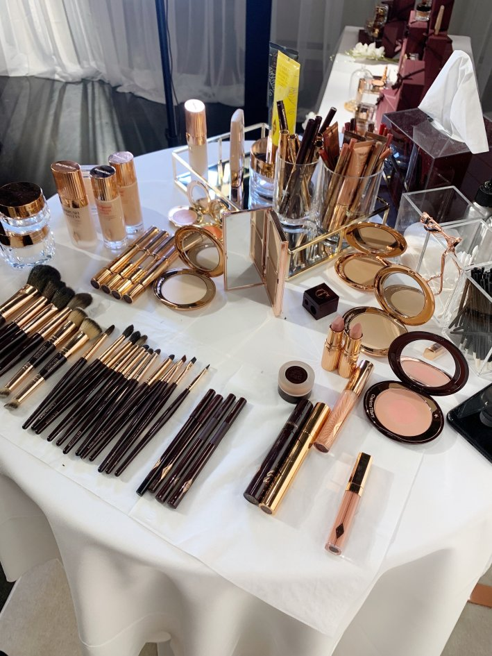 Charlotte Tilbury Master Class in Dallas with Celebrity make-up artists Berri King and Beck Morgan | Charlotte Tilbury Master Class: What I learned! by popular luxury fashion blogger, Tanya Foster: image of various Charlotte Tilbury makeup products.