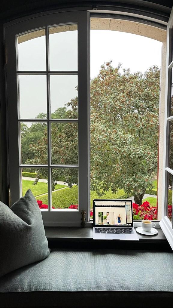 Jordan Winery Chateau Suite open window