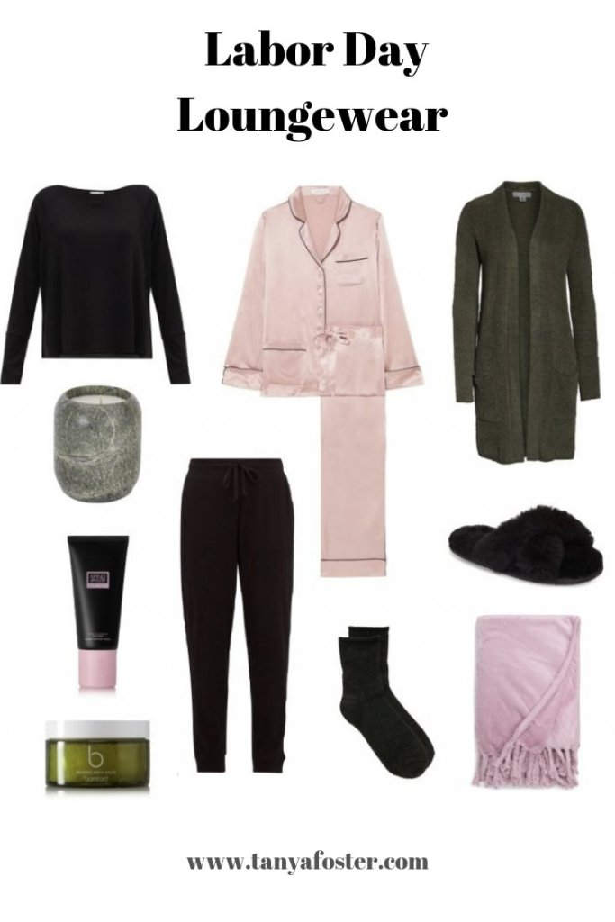 Loungewear For Labor Day | Stylish Loungewear For Your Cozy Day At Home | Labor Day Weekend SALES by popular Dallas fashion blogger, Tanya Foster: collage image of various loungewear items.