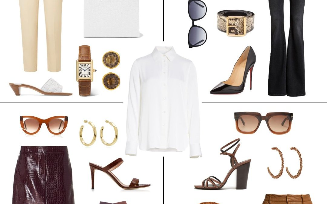 One Piece Four Ways: How to Wear a White Button Down Blouse