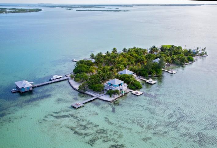 Overhead -Belize of Cayo Espanto
