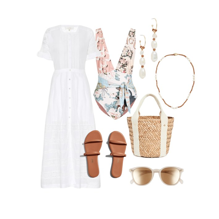 swimsuit coverup sandals and accessories fashion edit