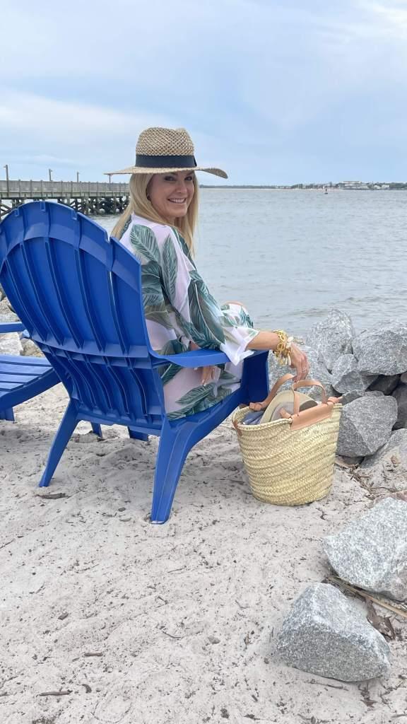 Tanya Foster Sitting at beach