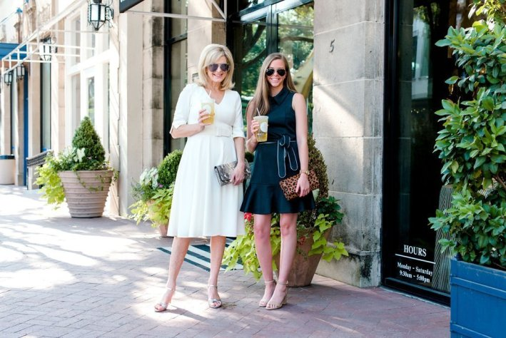 Special Occasion dresses from Nordstrom featured by top US fashion blogger, Tanya Foster: image of a 2 women wearing Eliza J Dresses
