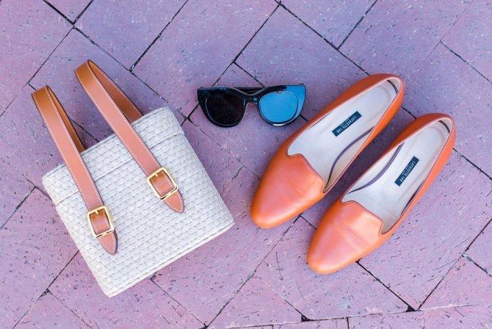 Officina del Poggio bag and Lafayette 148 shoes