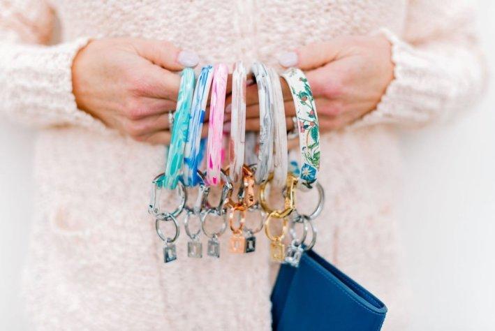 O-Venture key rings in spring 2019 colors