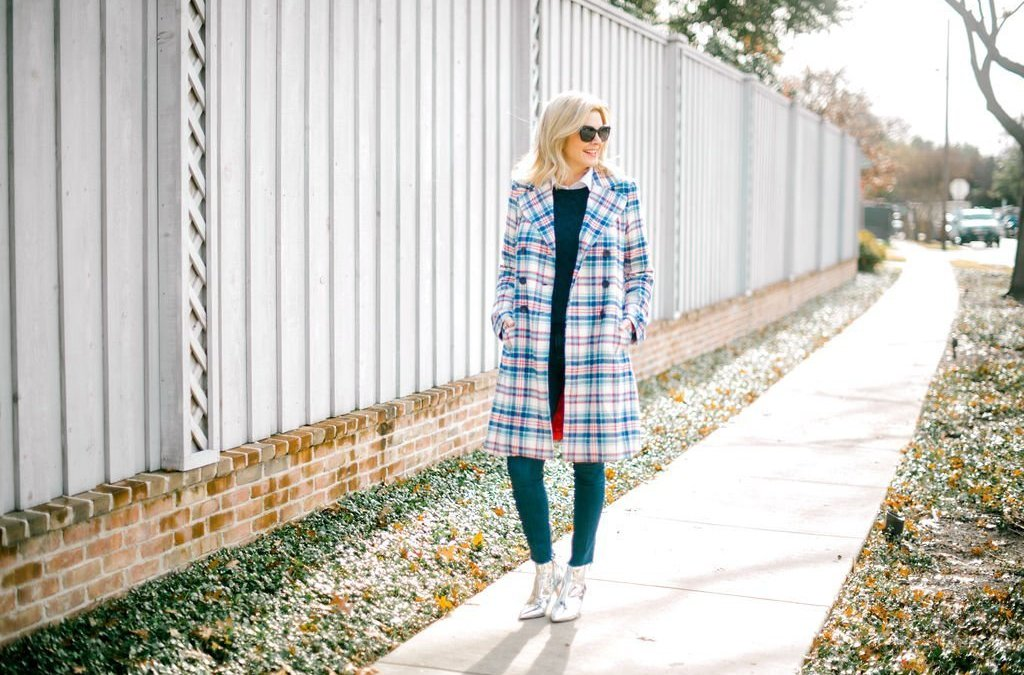 Add a Little Punch with a Plaid Coat!