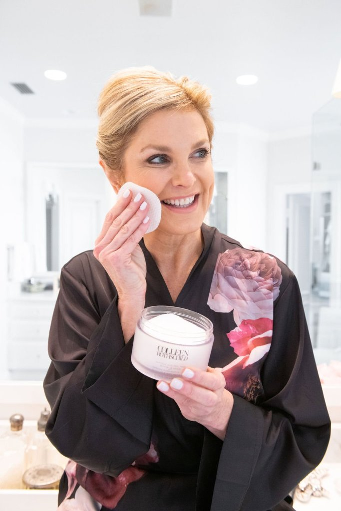 Tanya Foster using spa-treatment product