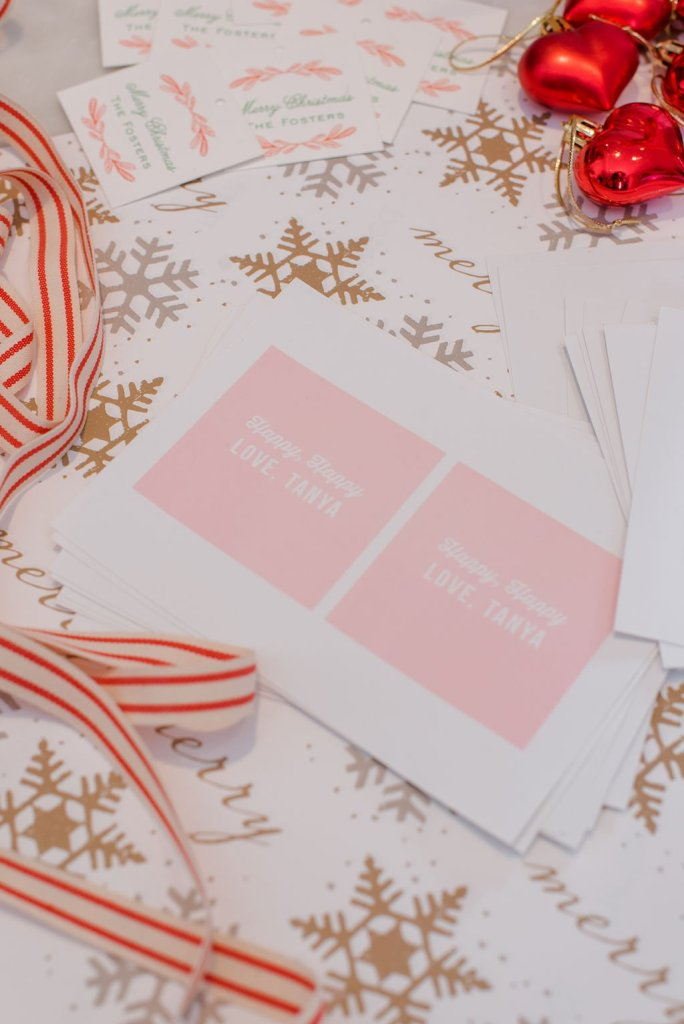 gift wrap and gift stickers