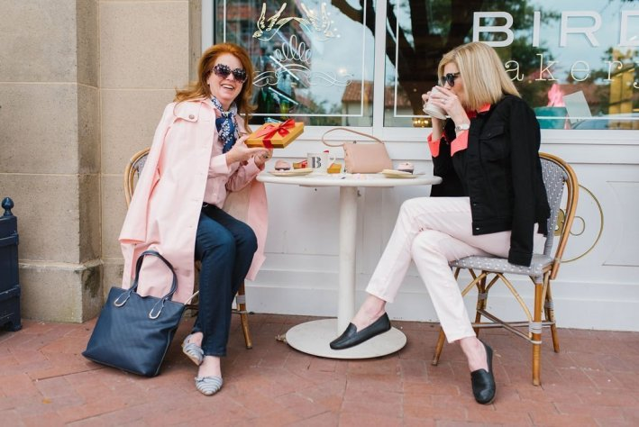 Talbots Galantine's 2019 Mary Meier-Evans of The Curious Cowgirl and Tanya Foster of TanyaFoster.com wear Talbots
