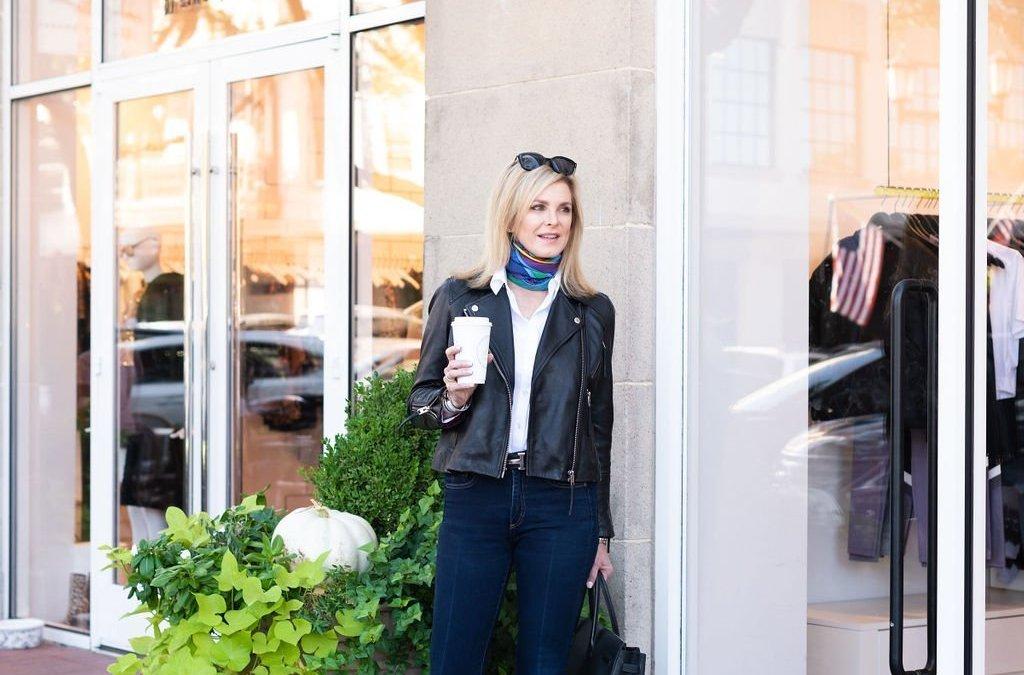 Black Moto Jacket + Skinny Jeans