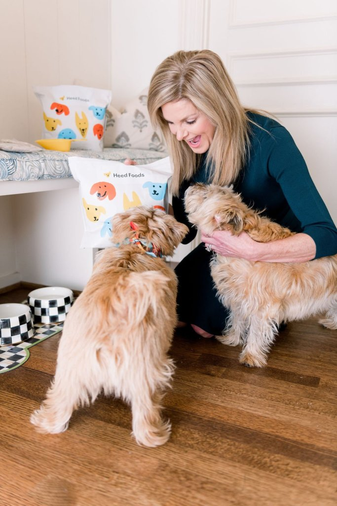 Tanya Foster with her dogs and Heed Foods
