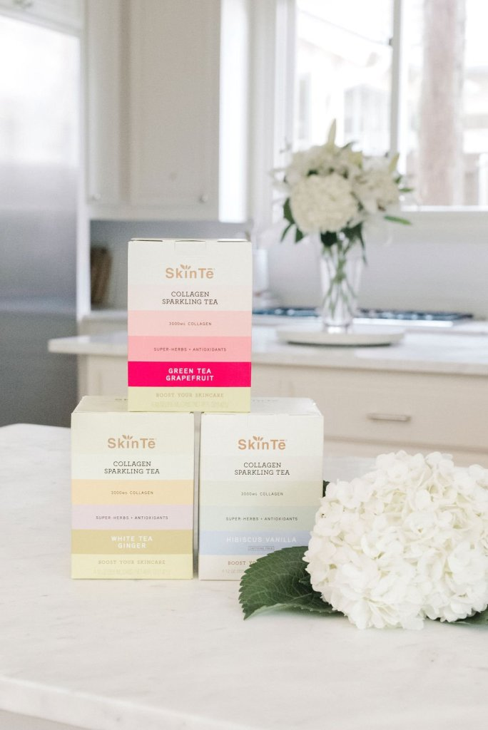 SkinTe - The Secret to Radiant Skin | The Resolution to Radiant Skin - SkinTē by popular Dallas luxury beauty blogger, Tanya Foster: image of various SkinTe products.