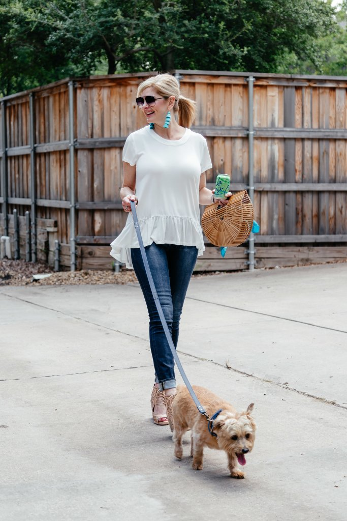 White shirt, skinny jeans and Nordstrom must haves that are on sale.