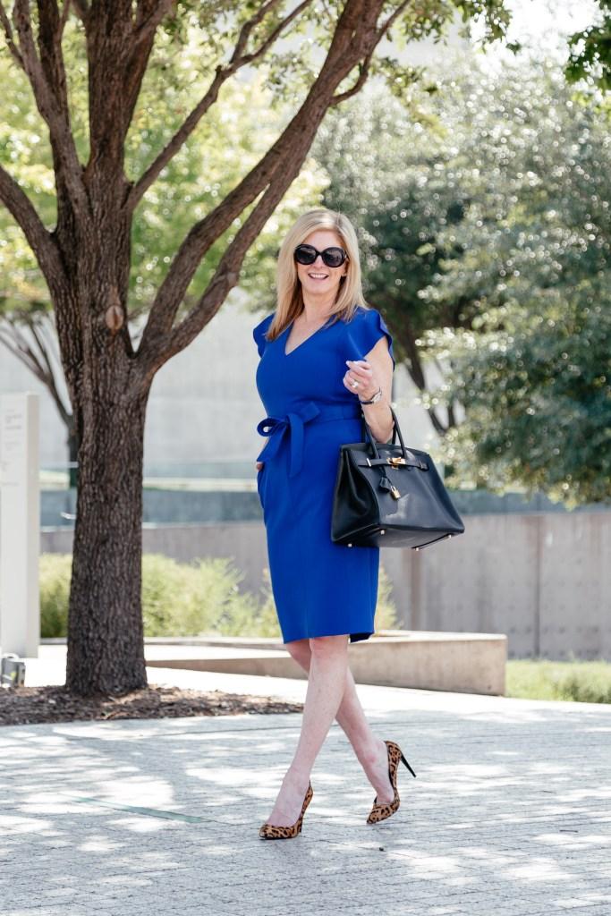 The Eliza J cobalt blue dress on the Nordstrom Anniversary Sale