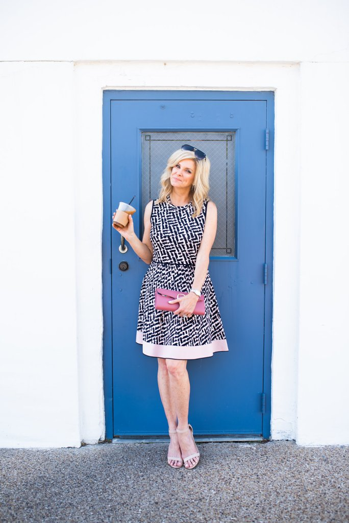 Tanya Foster in an Eliza J dress from the Nordstrom Anniversary Sale.
