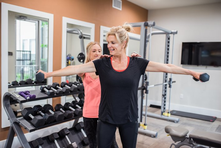 Check out how Tanya Foster got in shape for her daughters wedding with Kat Spangler at Eat N Run Fitness.