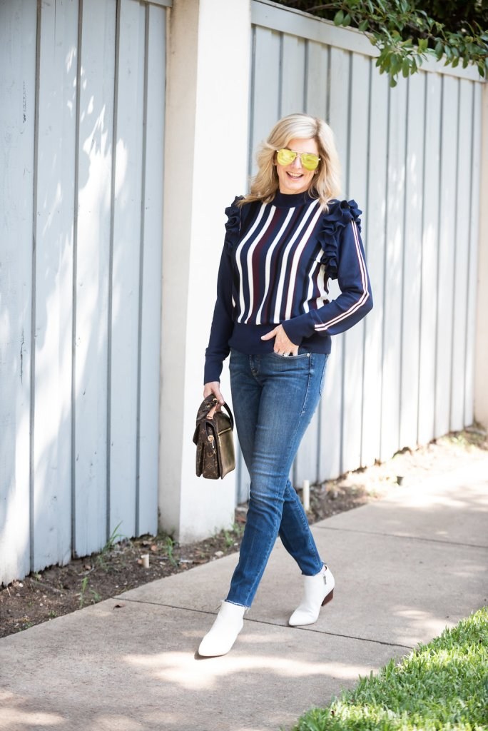 Pair your favorite sweater with denim for a perfect fall look