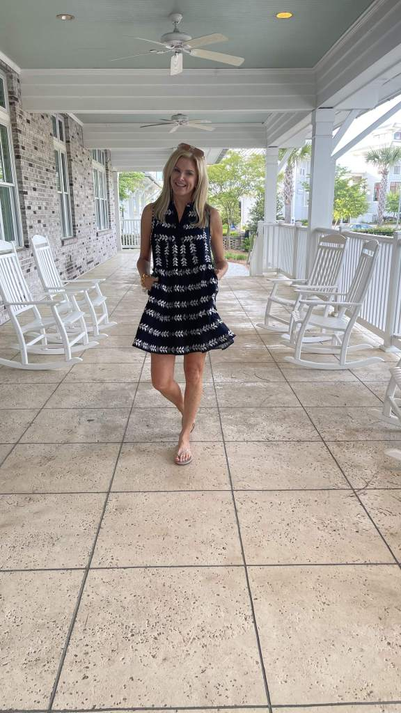 Tanya Foster on front porch