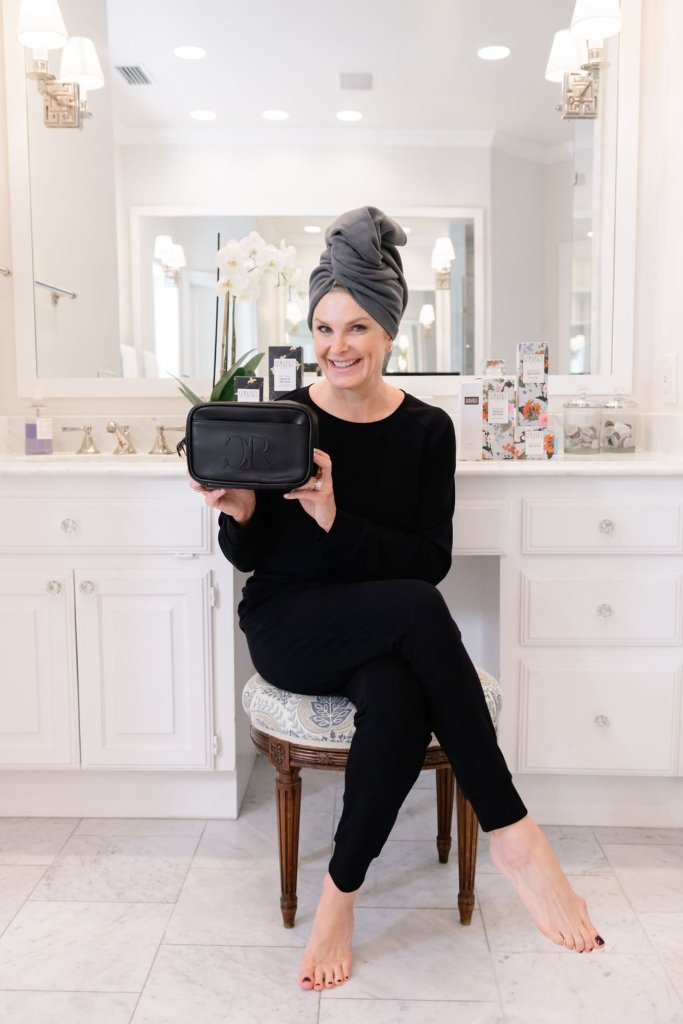 Tanya foster holding colleen rothschild discovery kit with hair wrap