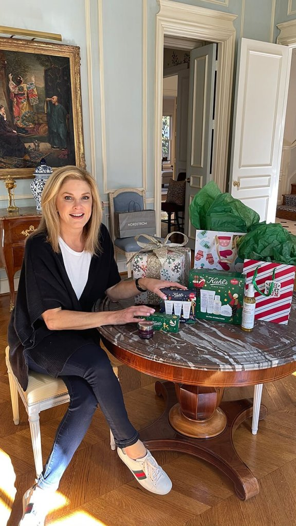 Tanya with Kiehl's products from Nordstrom give the gift of kiehl's