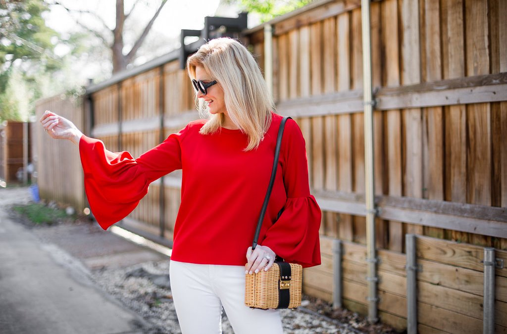 The Red Bell Sleeve Top You Need Right Now!