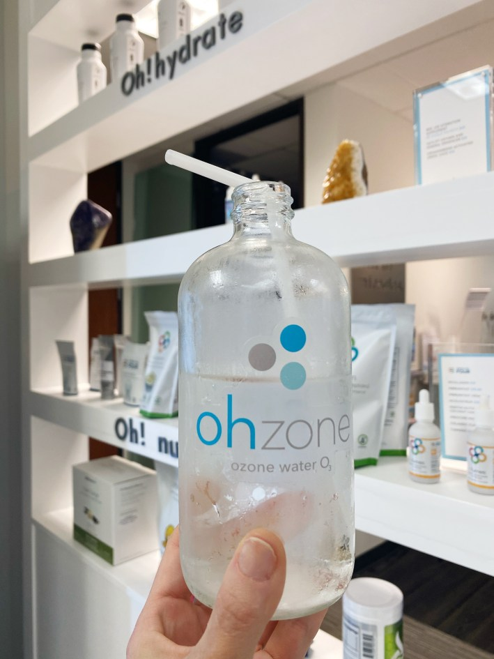 Water infused with ohzone