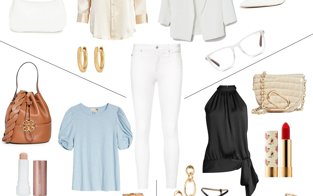 One Piece Three Ways | White Jeans