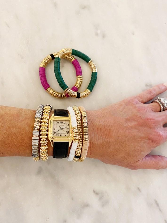 Tanya Foster wearing Allie + Bess bracelets